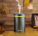 Humidificateur ultrasonique noir en bois réel d'air d'huile essentielle de diffuseur d'arome de couleur foncée électrique