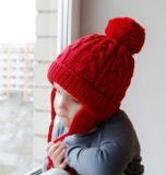 Het Huis van kinderen verkiest de OpenluchtHoed van de Ski van de Sneeuw van de Winter van de Jongens POM POM Peruviaanse Beanie Earflaps van de Meisjes van Jonge geitjes (HW607)