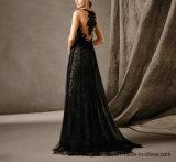 Stock выпускной вечер одевает шнурок Tulle отбортовывая платье вечера E1784 партии
