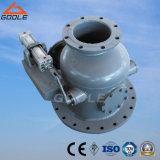 Válvula de entrada seca flangeada pneumática da cinza da central energética térmica (GJQ641FM)