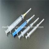 바늘 세륨 ISO SGS GMP TUV를 가진 의학 처분할 수 있는 3 부품 주사통