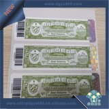 Etiqueta quente do papel de segurança da folha de carimbo