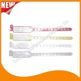 Faixas do bracelete do Wristband da identificação do cartão da inserção do entretenimento do vinil (E6060A12)