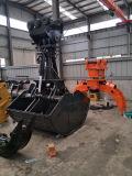 Position d'encavateur de bloc supérieur d'excavatrice sans rotateur