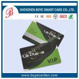 Cartão de sociedade do PVC com número de gravação