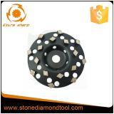 roue de meulage de cuvette du diamant 5-Inch pour l'étage de béton/granit