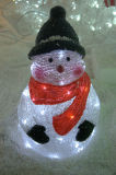 새로운 디자인 아크릴 눈사람 LED 빛 (IL100625-1)