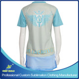 주문품 저어지와 Boarder Skirt를 가진 Sublimation Girl Lacrosse Sports Suit
