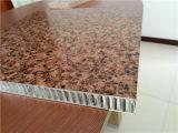 La pierre de qualité aiment le panneau en aluminium de nid d'abeilles pour le revêtement de mur
