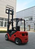 Le rouge neuf 2500kg de l'ONU conjuguent chariot élévateur de l'essence Gasoline/LPG avec le mât de Triplex 4.3m
