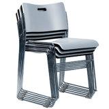 Entwerfer-Schwarz-Plastikstapel-Stuhl der Kapazitäts-Hzpc024 mit schwarzem Rahmen