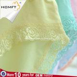 El color sólido de la fibra de bambú Hip del Lacework de la mención de moda ventila la ropa interior Panty de las señoras de la ropa interior de las chicas jóvenes