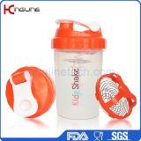 bottiglia dell'agitatore della proteina 500ml con il miscelatore inossidabile (KL-7006)