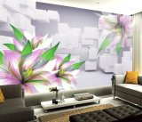 Papel pintado floral agraciado hermoso de la decoración de la pared de la buena calidad para el sitio de la base
