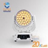 高品質4in1 RGBW/RGBA 36*10W LEDのPowerconのズームレンズ機能、DMX LEDの照明の移動ヘッド洗浄ライトのためのRashaの段階ライト製造者