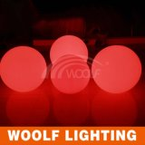 Bolas ligeras con pilas del cambio LED del color de la luz de la decoración del LED