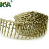 Clous à bobines coniques pneumatiques pour emballage, toitures, clôtures