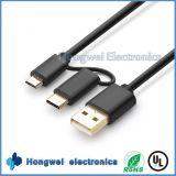 Micr3ofono y tipo de aluminio C 2 del nuevo diseño en 1 cable del USB