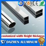 Anodisiertes silbernes Aluminiumlegierung-Quadrat-rechteckiges Gefäß-Aluminiumstrangpresßling-Profil