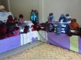 円の帽子およびスカーフ編む機械