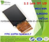 """2.2 """" schermo dell'affissione a cristalli liquidi di 176X220 MCU TFT, Ili9225g, 22pin per la posizione, campanello, medico"""