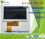 """4.3 """" het 480X272TFT LCD Scherm, LCD Comité, RGB, hx8257A01-C, 40pin met het Scherm van de Aanraking"""