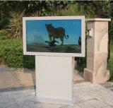 """서 있는 간이 건축물 디지털 Signage 접촉 스크린 LCD를 광고하는 32의 """" - 84의 """" 인치 인조 인간 무선 WiFi HD LED"""
