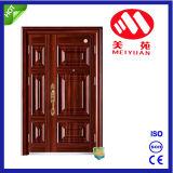 La puerta principal de la casa moderna diseña la puerta de acero de la seguridad