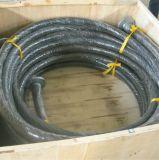 耐久力のある黒い陶磁器の並べられた適用範囲が広いゴム製ホース