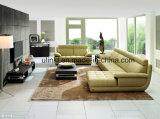 Sofà domestico moderno del cuoio del salone dell'angolo della mobilia (UL-NS009)