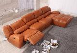 Móveis para casa Modern L Shape Sofá reclinável de couro
