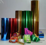 Película colorida metalizada del poliester para laminar