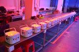 12*18W LED 동위는 1개의 DMX 무선 건전지 동위 빛에 대하여 6호의 통조림으로 만든다