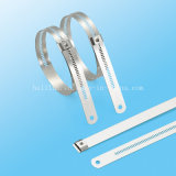 Dehnbare überzogene Edelstahl-Epoxidstrichleiter-einzelner Widerhaken-Verschluss-Kabelbinder
