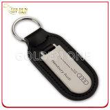 Профессиональные изготовленный на заказ кожа логоса автомобиля & металл Keychain