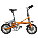 Bicicletta piegante della batteria di litio/bici elettrica della città/bicicletta piegante del acciaio al carbonio lega di alluminio