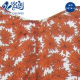 Alineada atractiva de las señoras de la manera del V-Cuello rojo de la impresión floral