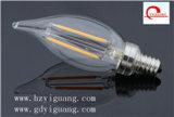 La lámpara de filamento C35 3.5W helada amortigua E14 220V
