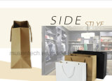 昇進のショッピングのためのハンドルが付いている習慣によって方法高品質のクラフトの印刷される受諾可能な紙袋