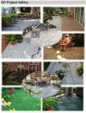 Azulejo natural al aire libre del jardín del mosaico de la losa del travertino de la piedra DIY del suelo que se enclavija con la base del PE
