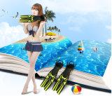 Aprire le alette del tallone, le alette dell'attrezzatura per l'immersione, alette di nuoto
