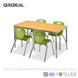 Tabela moderna do retângulo da mobília de escola para ambientes e atividades de aprendizagem