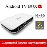 Smart Android TV Box X1 avec Rk3128 Quad-Core 1 Go / 8 Go WiFi Bt 4k