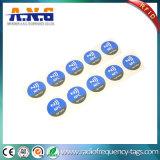 pequeñas NFC etiquetas del Hf RFID de 13.56MHz con la antena de aluminio de la aguafuerte