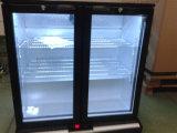 Doppelte Tür-Rückseiten-Stab-Glaskühlvorrichtung für Getränkegetränk-Stab-Kühlraum