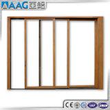 Ventana de cristal doble de aluminio de la ventana de desplazamiento del marco