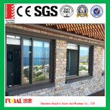 Ventana de desplazamiento de aluminio de la alta calidad con el vidrio modificado para requisitos particulares