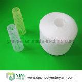 Hilados de polyester hechos girar en el cono de papel 502