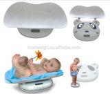con cuidado electrónico ergonomía de la plataforma movible y la escala de bebé del niño