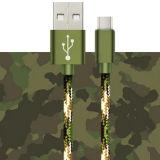 Neue Tarnung-umsponnener umschaltbarer Nylontyp C USB-Kabel